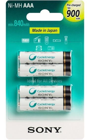Pilha Sony Recarregável Aaa 900mah Com 4 Unidades Palito