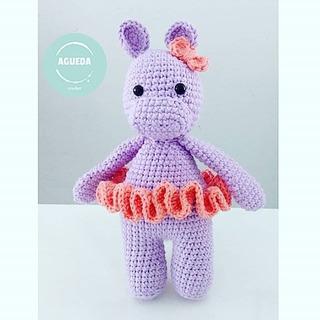 Hipopotamo De Apego, Tejido A Crochet, Amigurumi