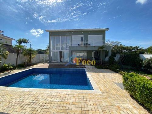 Casa Com 4 Dormitórios À Venda, 500 M² Por R$ 1.800.000,00 - Condomínio Villagio Paradiso - Itatiba/sp - Ca0514
