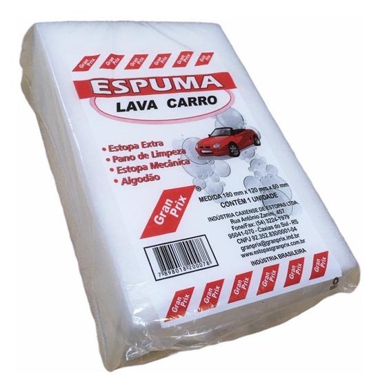 Esponja Lava Carro Branca Gran Prix 18x12x6cm