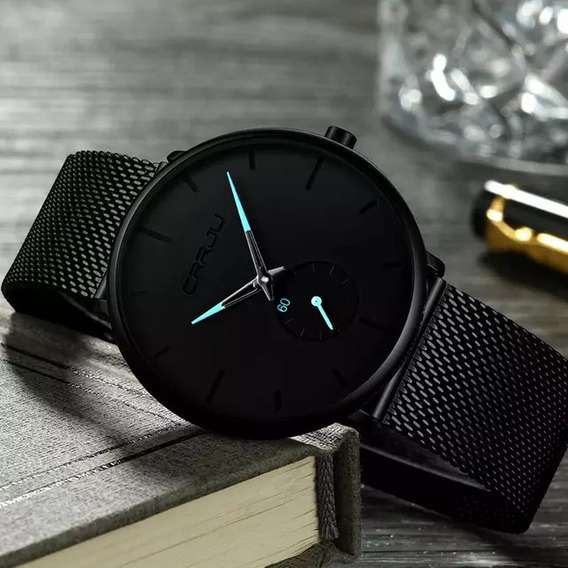 Relógio De Luxo Crjju- 100% Original- Inox.- A Prova Dágua