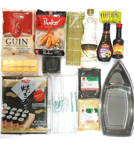 Kit Sushi / Hot Roll 1 - Completo Com Barco (wasabi Sachê)