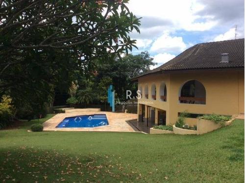 Chácara Com 4 Dormitórios À Venda, 1260 M² Por R$ 3.500.000 - Residencial Parque Rio Das Pedras - Campinas/sp - Ch0056