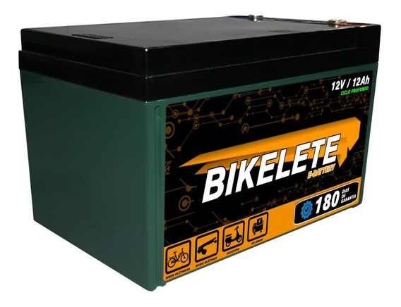 Bateria Para Bicicleta Eletrica 12v 12ah Ciclo Profundo