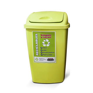 Tacho Cesto Basura Plastico 25 Litros Con Tapa Colombraro