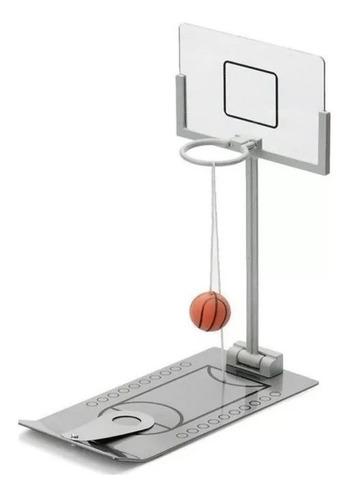 Aro Basket Mini Metalico Juego De Mesa Basquet Metal Juguete