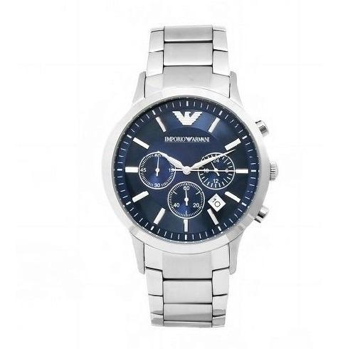 Reloj Emporio Armani Cronógrafo Acero Inoxidable Azul Ar2448
