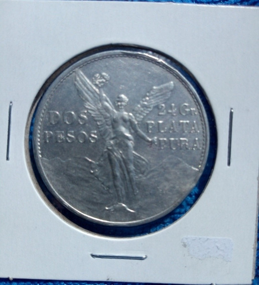 Moneda De Plata De 2 Pesos 1921