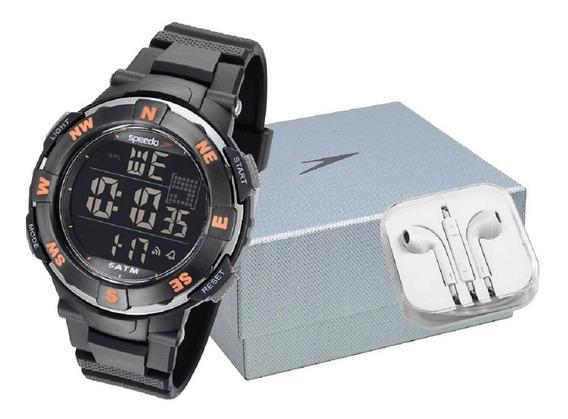 Relógio Masc Speedo 81192g0evnp2k1 + Carregador Portátil Nfe
