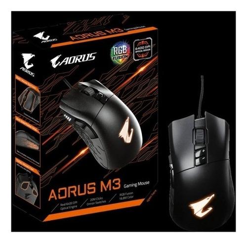 Mouse Gamer Gigabyte Aorus Usb 6400dpi Rgb M3.