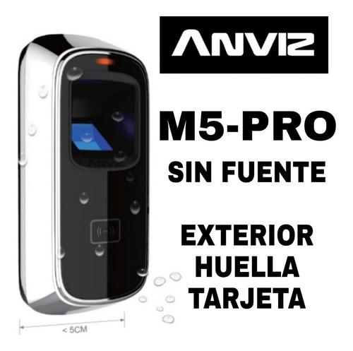 Anviz M5-pro Control De Acceso Huella Exterior Sin Fuente