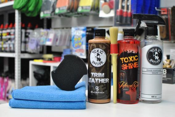 Kit Limpieza Y Acondicionado Tapizados De Cuero Toxic Shine