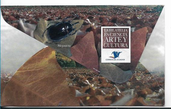 Sobre Primer Día Estampillas Ecuador Escarabajos Año 2007