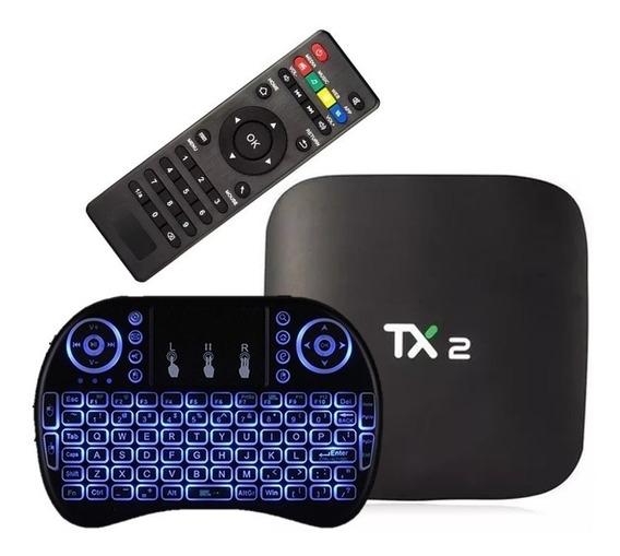 Box Tv Modelo Tx2 /2 Ram /16 Rom C/ Bluetooth + Mini Teclado