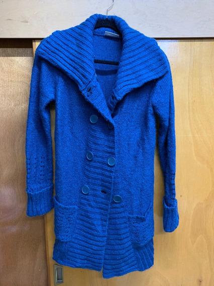 Sweater Largo, Abierto Con Botones, C&a, Lana/mohair, Mujer