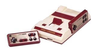 Consola Apevtech 8 Bit blanca y roja
