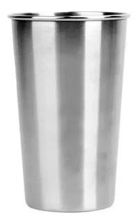 Vaso Acero Inoxidable 450 Cc.con Reborde