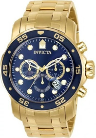 Relógio Pa895 Invicta Pro Diver 0073 Dourado + Caixa