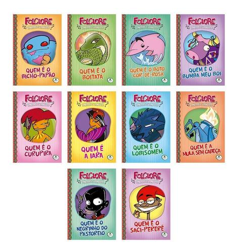 Livro Infantil Folclore Contos E Cantos C/10 Unidades