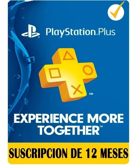 Playstation Plus 1 Año 12 Meses Oferta Unica Ps4! Garantia!