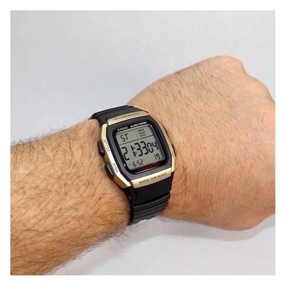 Relogio Casio W96h-9 S.ouro Timer Crono Alarme Wr50 Bat10ano