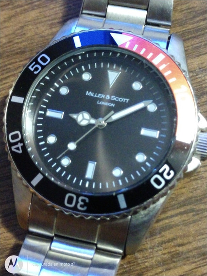 Reloj Tipo Diver Miller & Scott London Acero