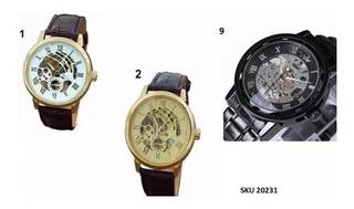 Reloj Hombre Skeleton Corazon Abierto Envio Gratis W01