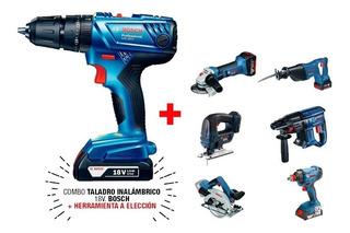 Taladro Percutor 18v Bosch Con Herramienta A Bateria Bosch
