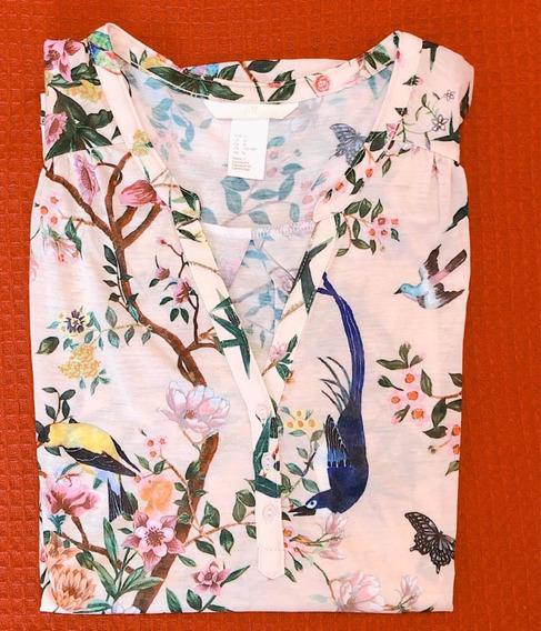Camisola H&m Exquisito Estampado, Ideal Primavera/verano.