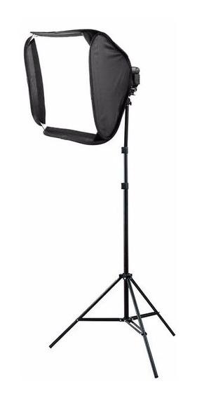 Softbox P/flash Speedlight 60x60 Godox +tripé Iluminação 2mt
