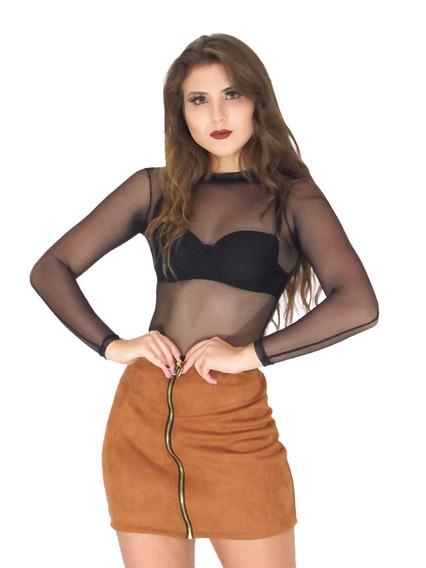 Body Feminino De Tule Transparente Bruna Marquezine Ref 129