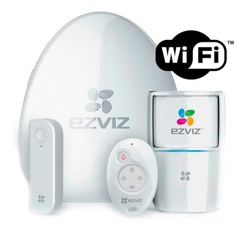 Imagen 1 de 3 de Kit Alarma Domestica Inalambrica Wifi Ezviz Hikvision