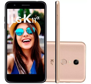 Smartphone Lg K11 Alpha, Dual, Dourado, Tela 5.3 , 8mp, 16gb