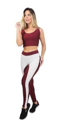 Conjunto Moda Fitness Legging E Cropped