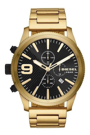 Relógio Diesel Masculino Black And Gold Dourado Dz4488/1dn
