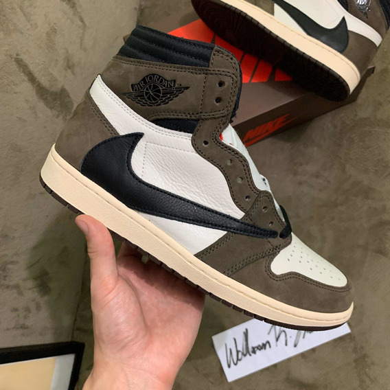 Air Jordan 1 Travis Scott 42br Novo Com Nota