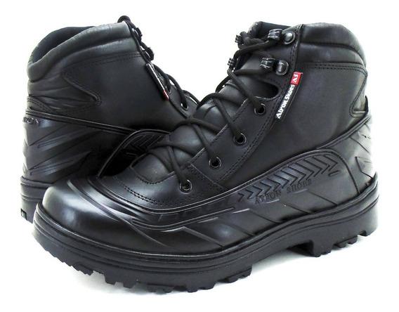 Coturno Militar Unissex Cano Médio Preto Atron Shoes