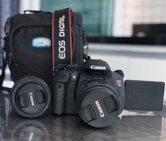 Câmera Cânon T5i Com Lente 18-55 + Uma Lente 50mm