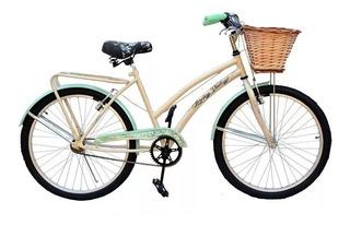 Bicicleta Dama Nena 24 Vintage La Mas Buscada C/canasto