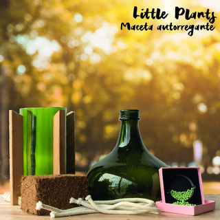Kit Little Plant 32 Con Soporte, Maceta Autorregante