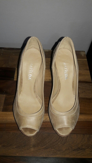 Zapatos Boca Pez; Taco Madera