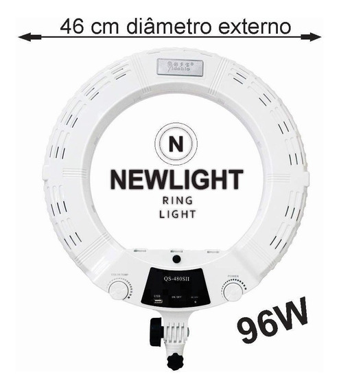 Ring Light Newlight 96w 18 Polegadas Bicolor