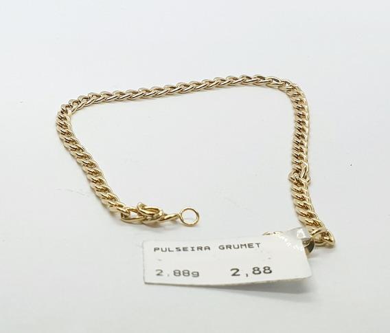 Pulseira Em Ouro 18k Grumet 2,88g 21cm