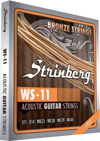 Encordoamento 011 Violão Aço Bronze Strinberg Ws11