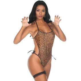 36372f464 Body Feminino Estampado Oncinha - Moda Íntima e Lingerie no Mercado ...