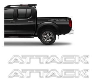 Kit Faixa Frontier Attack 12/ Modelo Original Adesivo Branco