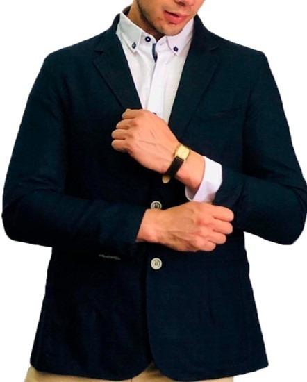 Blazer Saco Para Hombre Color Marino Oporto Peaceful