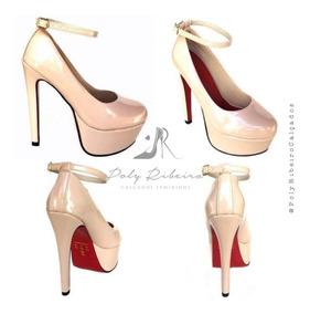 Sapato Boneca Meia Pata C/ Fivelinha Salto 15cm Várias Cores