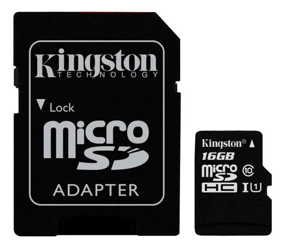 Cartão Memória Microsdhc 16gb 80mb/s Kingston