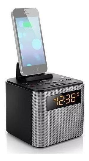 Radio Relógio Philips Bluetooth Dock Speaker Ajt3300